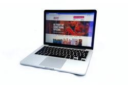 voluntary norfolk website on mac laptop