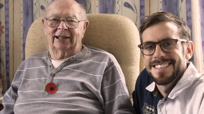 """""""A friend for life"""" is how Ronald Bloxham describes North Norfolk health volunteer Richard Fry."""