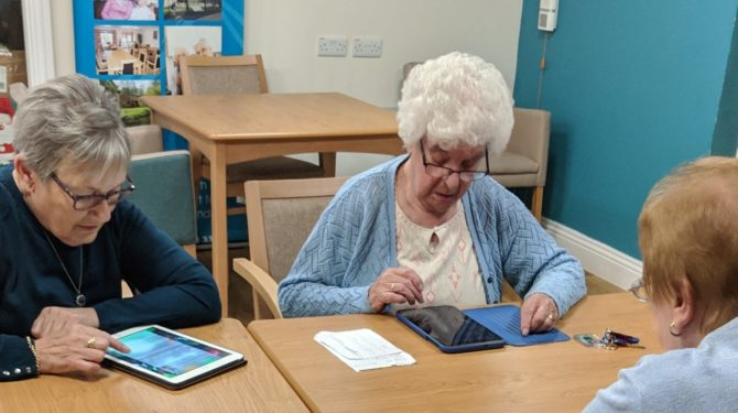 Digital Inclusion activities at St James Shelter
